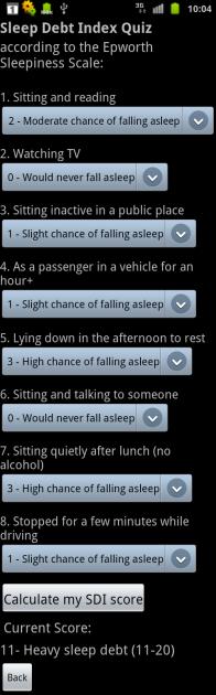 Sleep Bot Tracker Log:時々は眠気テストを受けてみましょう