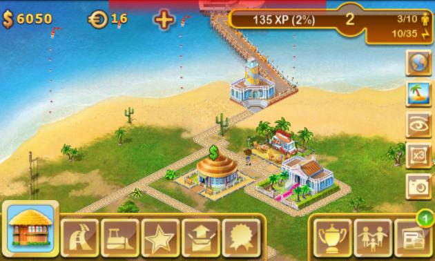 Paradise Island:ホットドッグショップ設置画面
