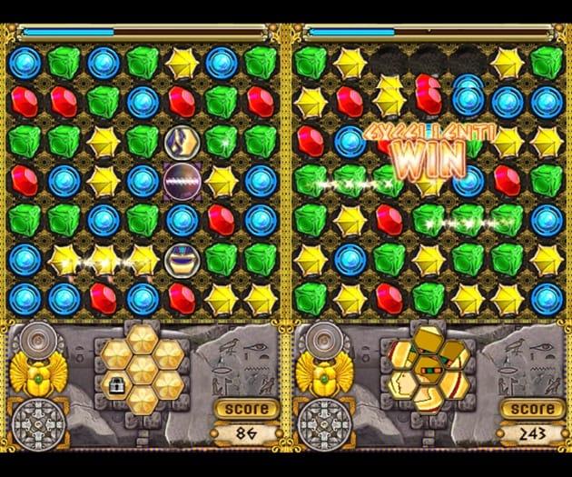 Jewellust:同じ色の宝石を3つ以上ならべよう。行き詰まった場合はヒントも見られる