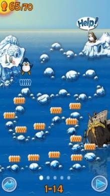 Air Penguin:125個のステージで魚を集めよう