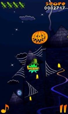 Acrobat Gecko Halloween:ジャンプ中はおろか落下中まで楽しい爽快アクション。