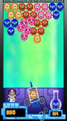 ドクターバブル (Doctor Bubble):同じ色の菌を3つ以上くっつければ消せる
