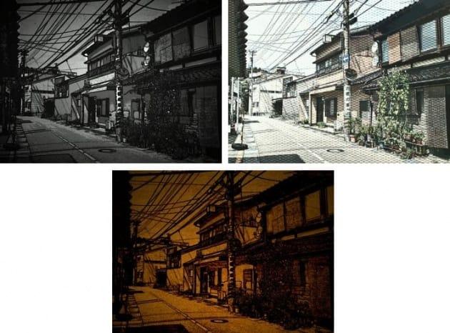 Paper Camera - アニメ - 漫画 映画:左上から時計回りに、GOTHAM MOR、HALF TON、GRANNY'S PAPER