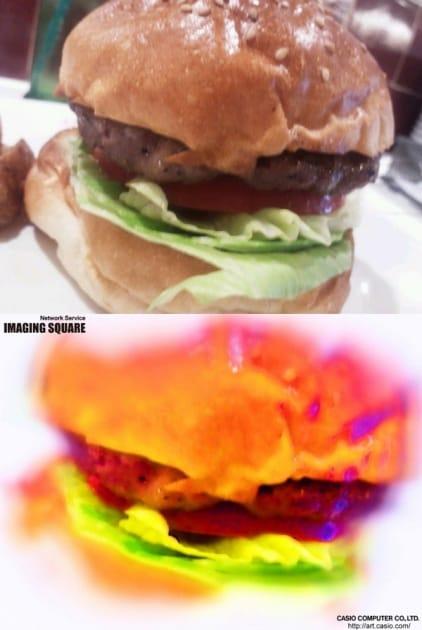 IMAGING SQUARE:バーガーの写真を変換(エアブラシ)