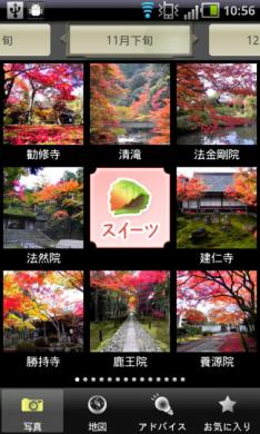 京都 紅葉&スイーツ ~旅街道シリーズ~