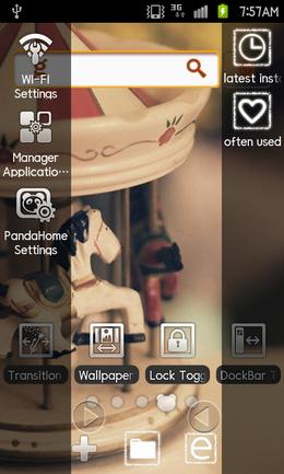 91 Pandahome Pro:画面の左右にドックバーを作る