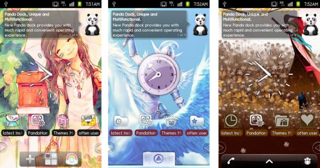91 Pandahome Pro:イラスト系のホームテーマ