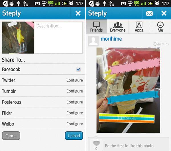 Labelbox:共有画面(左)投稿画面(右)