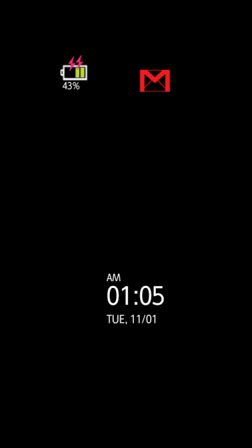 iLED:通知画面