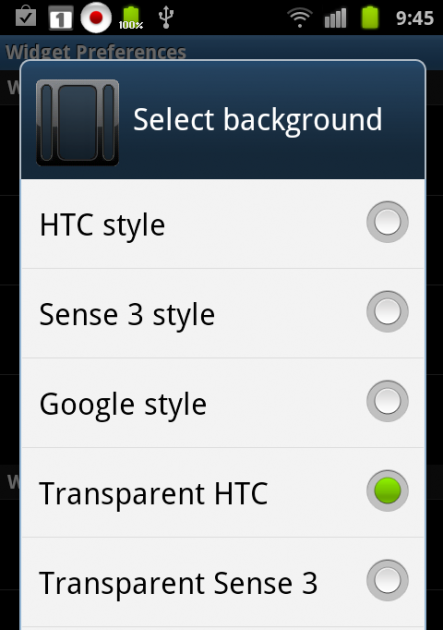 System Tuner:「Select background」画面