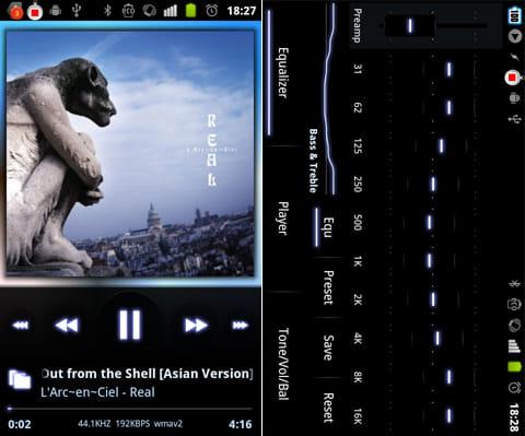 PowerAMP Full Version Unlocker:音質を自分好みに調整できるイコライザー機能が楽しい