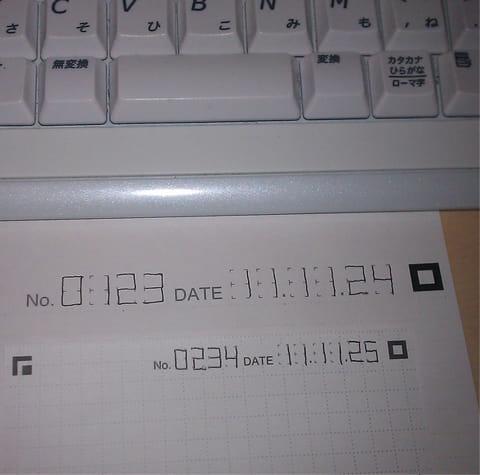 SHOT NOTE:番号と日付を書いておくと後々便利