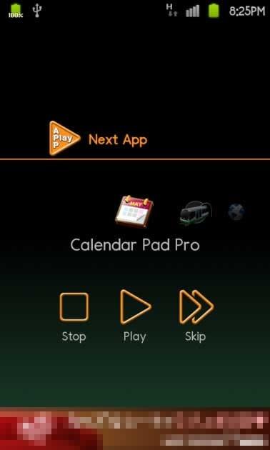 自動巡回アプリ【APPlay】:登録したアプリのスキップも可能
