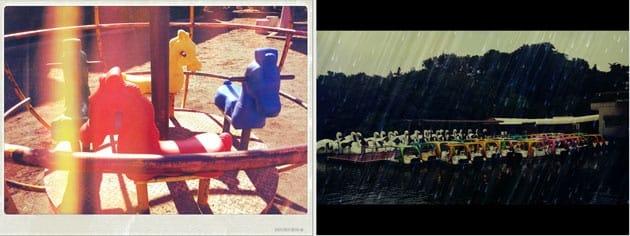 Pixlr-o-matic:Ivan、Leak、Nolaroid(左)Salomon、Rain、Film(右)