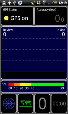 GPS Test:シャトルシグナルビュー(衛星信号風景)
