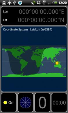GPS Test:ロケーションビュー(位置測定風景)