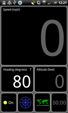 GPS Test:スピードビュー(速度風景)