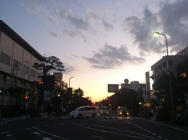 鮮やかな夕暮れもきれいに撮影できます