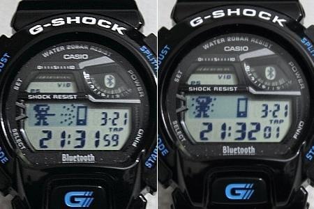 G-SHOCK GB-6900:携帯探索。G-SHOCKの画面を2回タップすると止まる