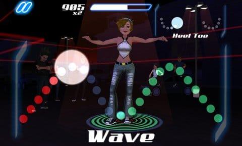 DANCE LEGEND MUSIC GAME:ウェーブの振付はまさにウェーブそのもの。