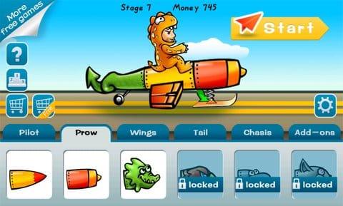 Birdman Rally:飛行機の羽や胴体はもちろん、パイロットのコスチュームも選べる。