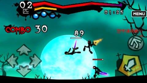 ダークブレイド:攻撃ボタン連打しているだけなのにこの動き!