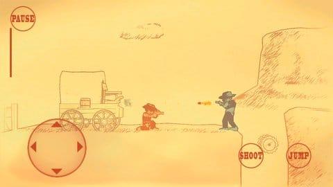 Gunman Clive:まるで描いた絵が動いているかのようなグラフィック