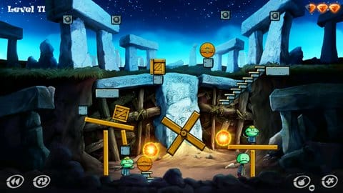 Zombie Granny: puzzle game:このステージはランダム性が強く、計算するのは難しい。