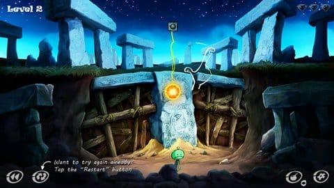 Zombie Granny: puzzle game:ロープを切って、火の玉をゾンビにぶつけよう!