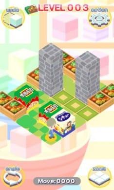 ならべてグリコ:お菓子BOXを指定の場所に陳列せよ。