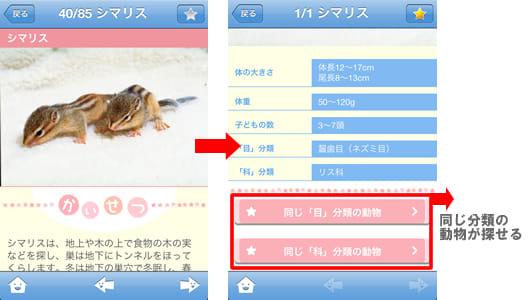 赤ちゃん動物図鑑100:詳細ページ