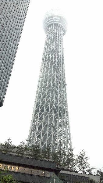 東京スカイツリー: 下からだと高すぎて実感できない