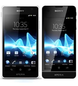 Xperia GX(左)Xperia SX(右)