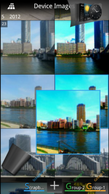 Pure Breeze Photos:画像を長押しして、グループ分けや削除ができる