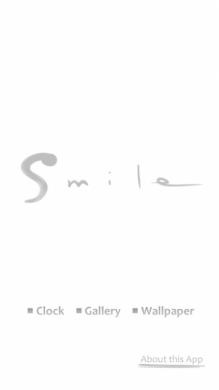 Smile by Inoue Takehiko:アイコンから起動してメニュー画面を表示