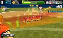 フリック・ベースボール:ヒット性の当たりでなくとも前に飛ばされると減点される。