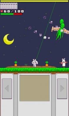 ラビットぼうや:ウサギ畑にやってくる宇宙人を倒せ。