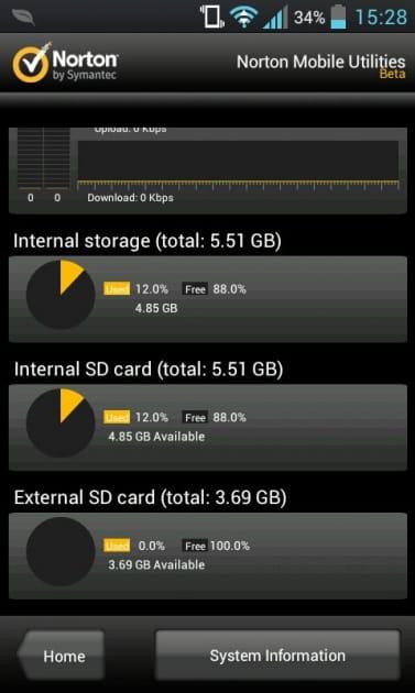 Mobile Utilities & Task Killer:リアルタイムで端末の情報が表示される「Device」
