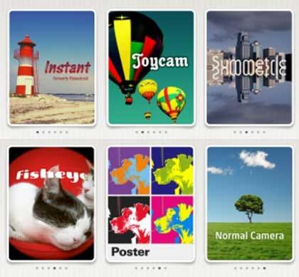 FxCamera:使えるエフェクトは6種類