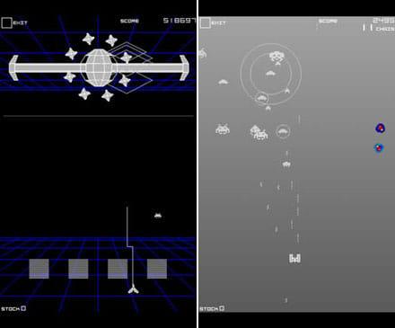インフィニティジーン TS:多彩なショットで敵を翻弄せよ。(左)進化するステージが魅力。(右)