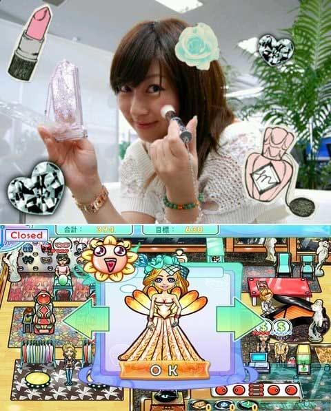 目指せ!世界の大富豪!お洒落サロンストーリー:藤川さんもメイク中!(上)洋服もかわいい!(下)