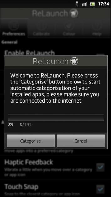 ReLaunch - Launcher:初回起動時は自動でアプリを読み込む