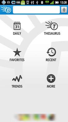 Dictionary.com:ホーム画面