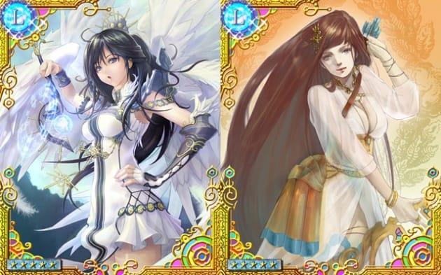 Revenge of Dragoon ~逆襲の竜騎兵~:レアカードのキャラクターたち。美しく、気高い女性キャラが多数登場