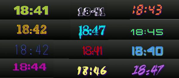 ClockQ - Digital Clock Widget:様々なフォントが用意されているので、定期的に変えるのも楽しい