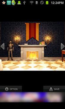 KNIGHT'S GLORY:脱出する部屋はまさに「古城」という感じのレトロな部屋だ。