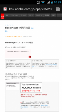 Flash Playerの状況OK