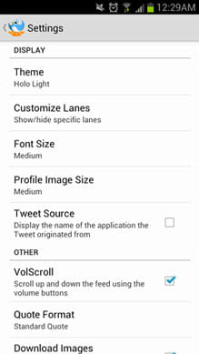 Tweet Lanes:テーマカラーやフォントサイズの変更ができる
