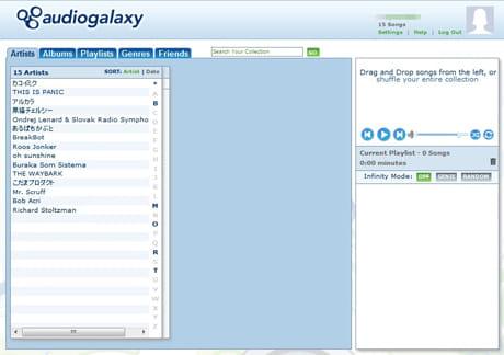 Audiogalaxy Music:PCでアカウントを作成