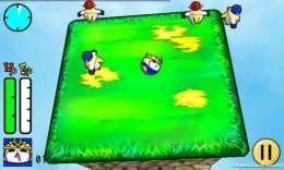 ナマケモノヒーローズ:端末傾けコーロコロ。2色に分かれた敵を倒そう。